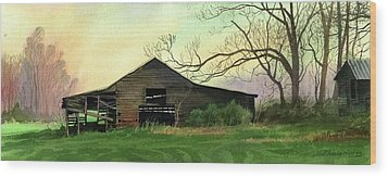Barn Wood Print by Sergey Zhiboedov