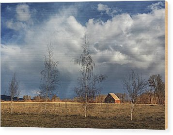 Wood Print featuring the photograph Barn Storm by James Eddy