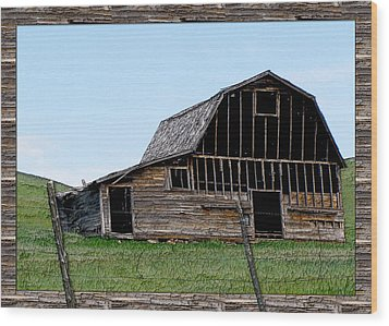 Wood Print featuring the photograph Barn by Susan Kinney