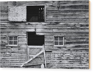 Barn Texture Wood Print