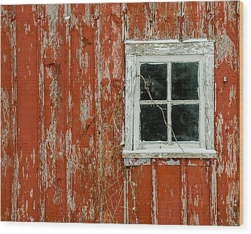 Barn Window Wood Print