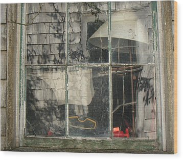 Barn Window Nantucket Wood Print