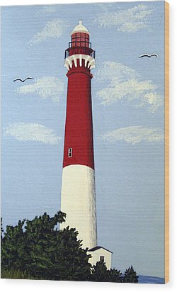 Wood Print featuring the painting Barnegat Lighthouse by Frederic Kohli