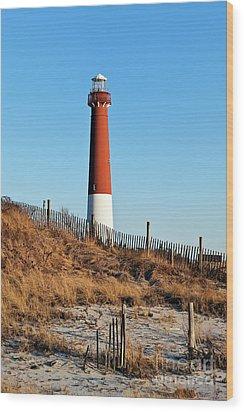 Barnegat Lighthouse Nj Wood Print by John Greim