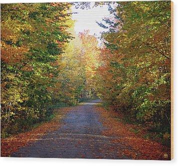 Barnes Road - Cropped Wood Print