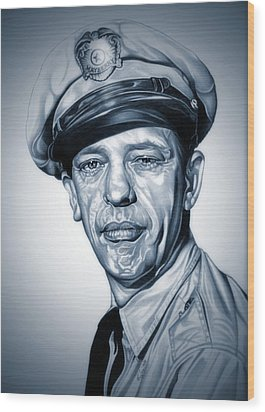 Barney Fife Wood Print by Fred Larucci