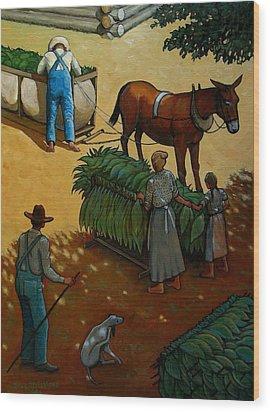 Barnin Tobacco Wood Print by Doug Strickland
