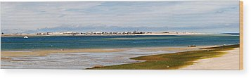 Barnstable Harbor Panorama Wood Print by Charles Harden