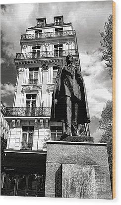 Baron Hausmann Wood Print by Olivier Le Queinec