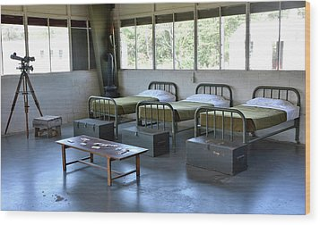 Wood Print featuring the photograph Barrack Interior At Fort Miles - Delaware by Brendan Reals