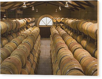 Barrel Room Wood Print by Eggers Photography