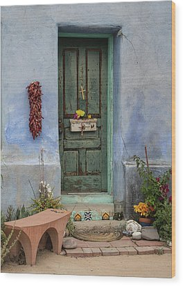 Barrio Door Wood Print