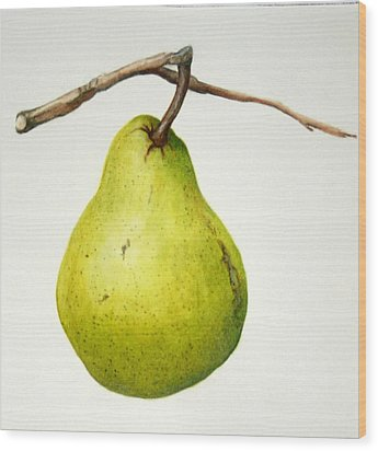 Bartlett Pear Wood Print by Margit Sampogna