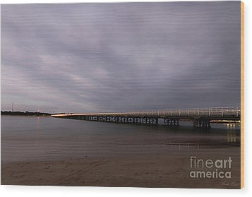 Wood Print featuring the photograph Barwon Heads Bridge by Linda Lees