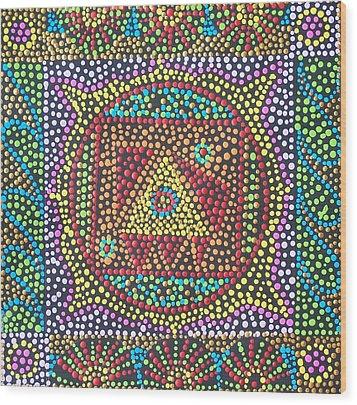 Base Chakra Wood Print by Vijay Sharon Govender