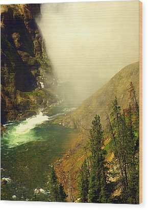 Base Of The Falls 2 Wood Print by Marty Koch