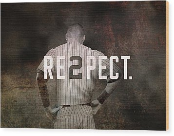 Baseball - Derek Jeter Wood Print by Joann Vitali