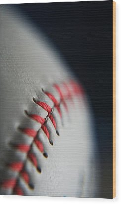 Baseball Fan Wood Print