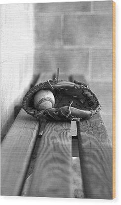 Baseball Still Life Wood Print by Susan Schumann
