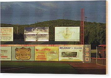 Baseball Sunset 2005 Wood Print by Frank Romeo