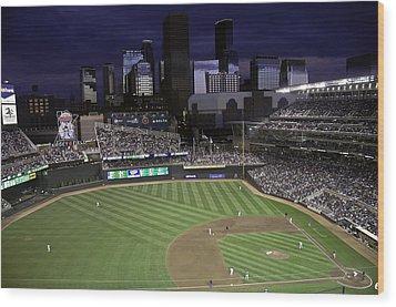 Baseball Target Field  Wood Print