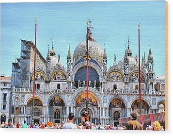 Basilica Di San Marco Wood Print by Sarah E Ethridge