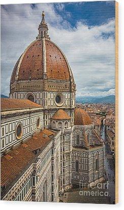 Basilica Di Santa Maria Del Fiore Wood Print by Inge Johnsson