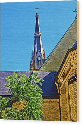 Basilica Of The Sacred Heart Notre Dame Wood Print by Dan Sproul