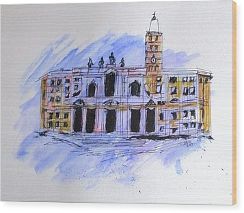 Basilica St Mary Major Wood Print by Clyde J Kell
