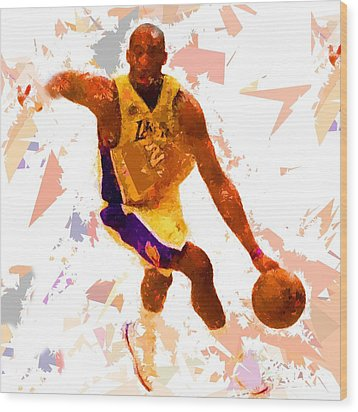 Wood Print featuring the painting Basketball 24 A by Movie Poster Prints