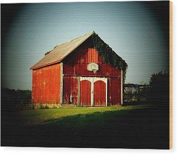 Basketball Barn Wood Print