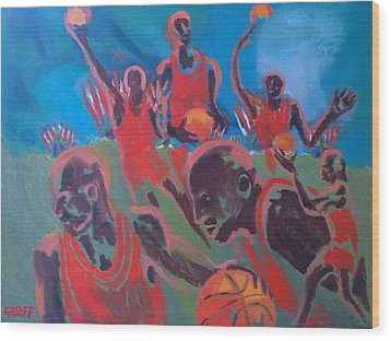 Basketball Soul Wood Print