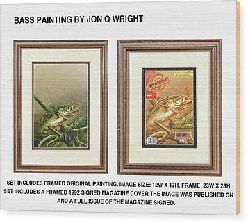 Bass And Log Wood Print
