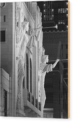 Bass Hall Fort Worth 520 Bw Wood Print