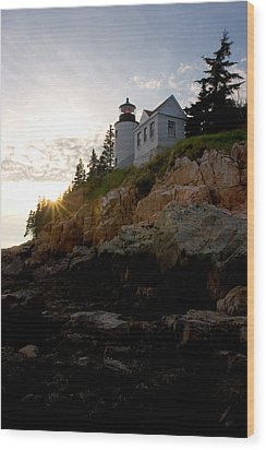 Bass Harbor Lighthouse 1 Wood Print by Brent L Ander
