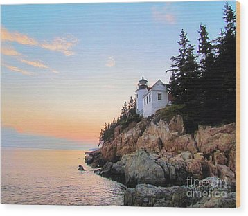 Bass Harbor Sunset II Wood Print
