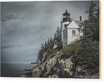 Bass Lighthouse Maine Wood Print