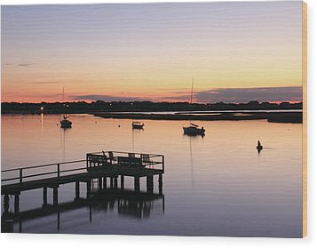 Bass River Before Sunrise Wood Print by Roupen  Baker