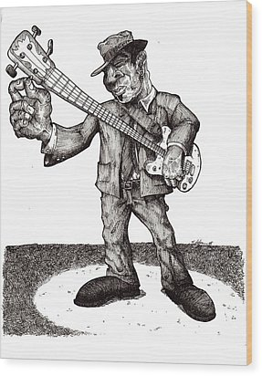 Bass Wood Print by Tobey Anderson