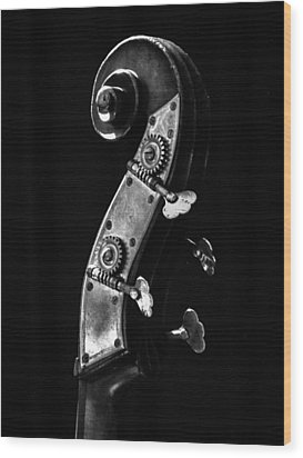 Bass Violin Wood Print
