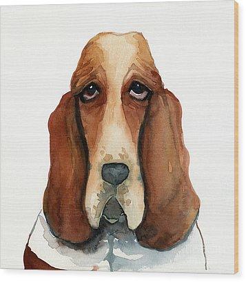 Basset Hound Wood Print