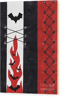 Bat Outa Hell Wood Print by Roseanne Jones
