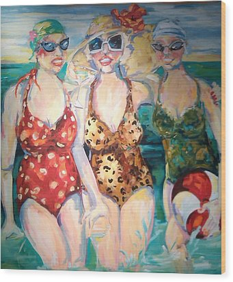 Bathing Beauties  Wood Print