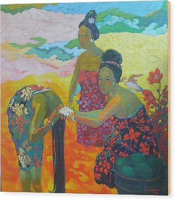Bathing1 Wood Print by Tung Nguyen Hoang