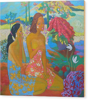 Bathing7 Wood Print by Tung Nguyen Hoang