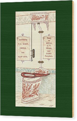 Bathroom Picture Five Wood Print by Eric Kempson