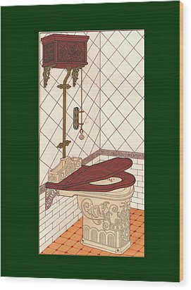 Bathroom Picture One Wood Print by Eric Kempson