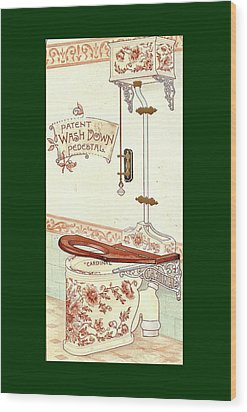 Bathroom Picture Three Wood Print by Eric Kempson