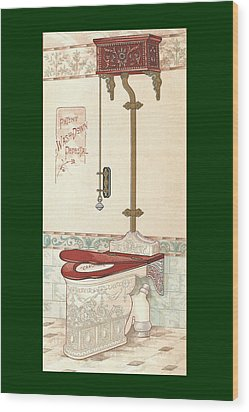 Bathroom Picture Two Wood Print by Eric Kempson