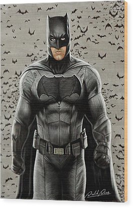 Batman Ben Affleck Wood Print by David Dias